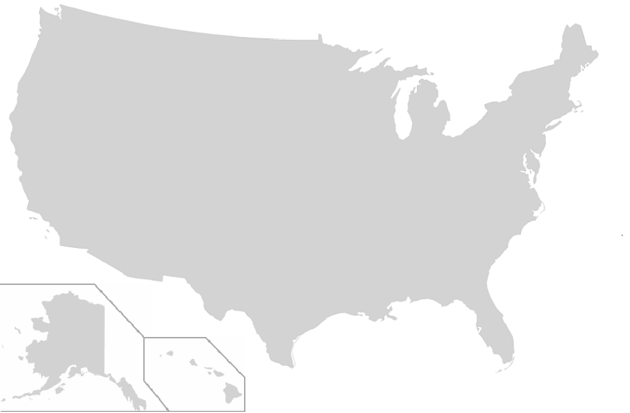 Find the US States - No Outlines Minefield Quiz