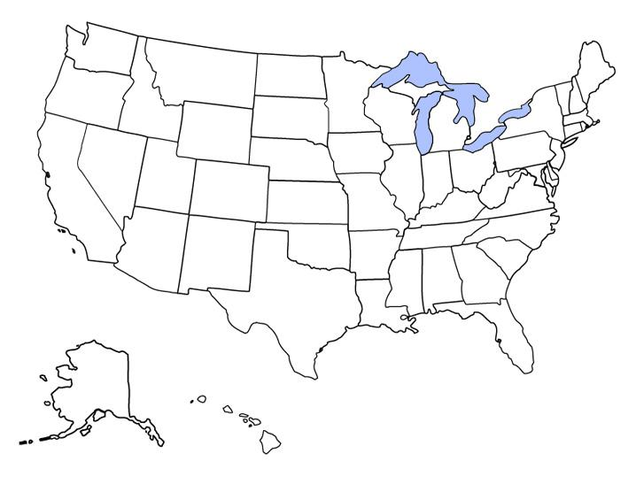 States With 0, 1 or 2 Borders Picture Click Quiz - By JustChris