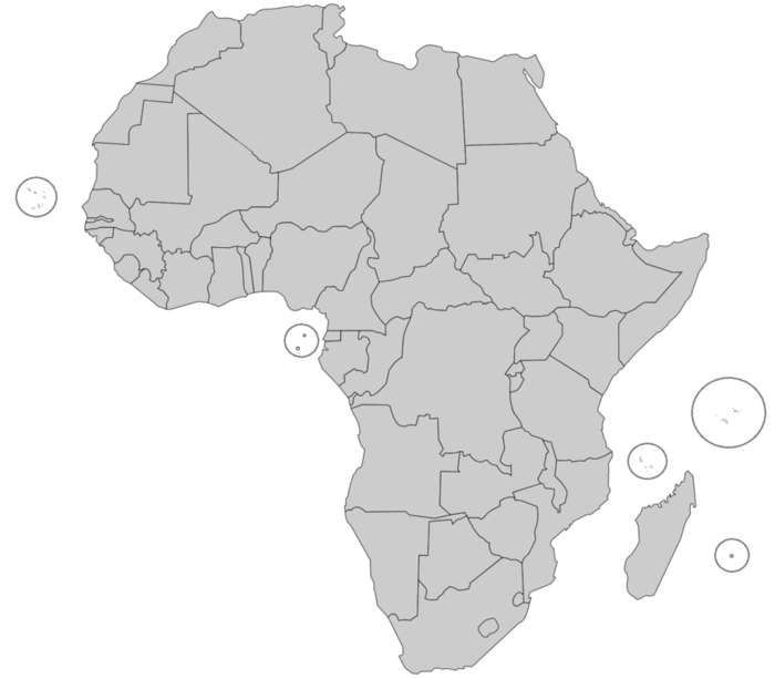 Map Of Francophone Africa.French Speaking African Countries Map Quiz