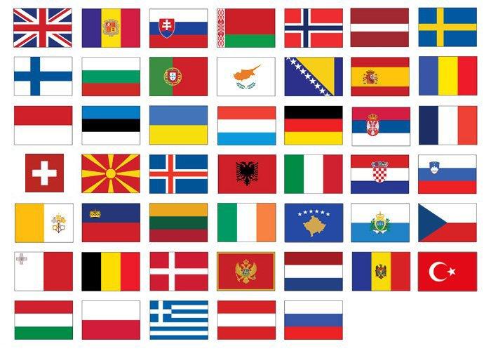Find the European Flags Quiz