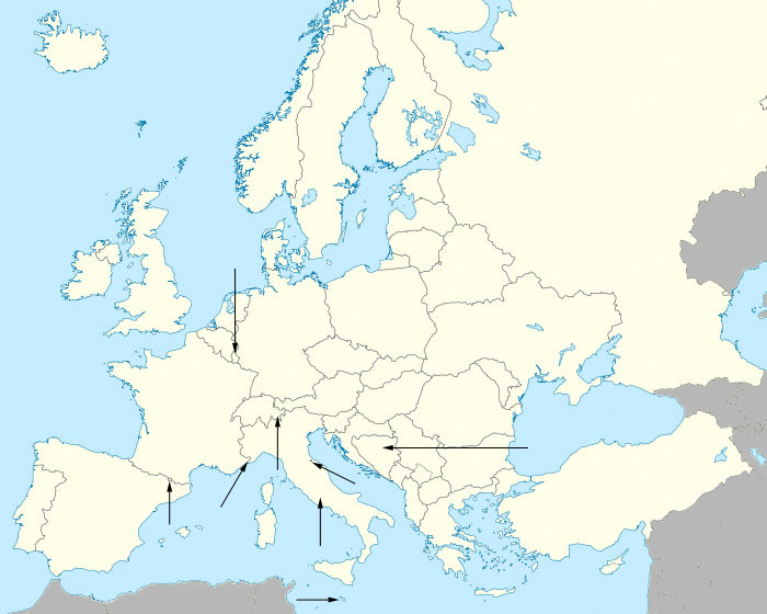 Find the Countries of Europe Quiz