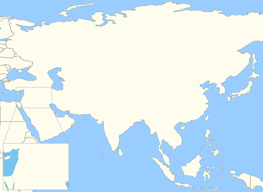 Countries of Asia Without Outlines Quiz