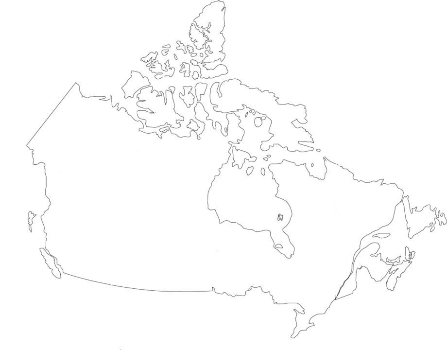 Outline Map Of Canada With Provinces And Capitals.Find The Provinces Of Canada No Outlines Quiz