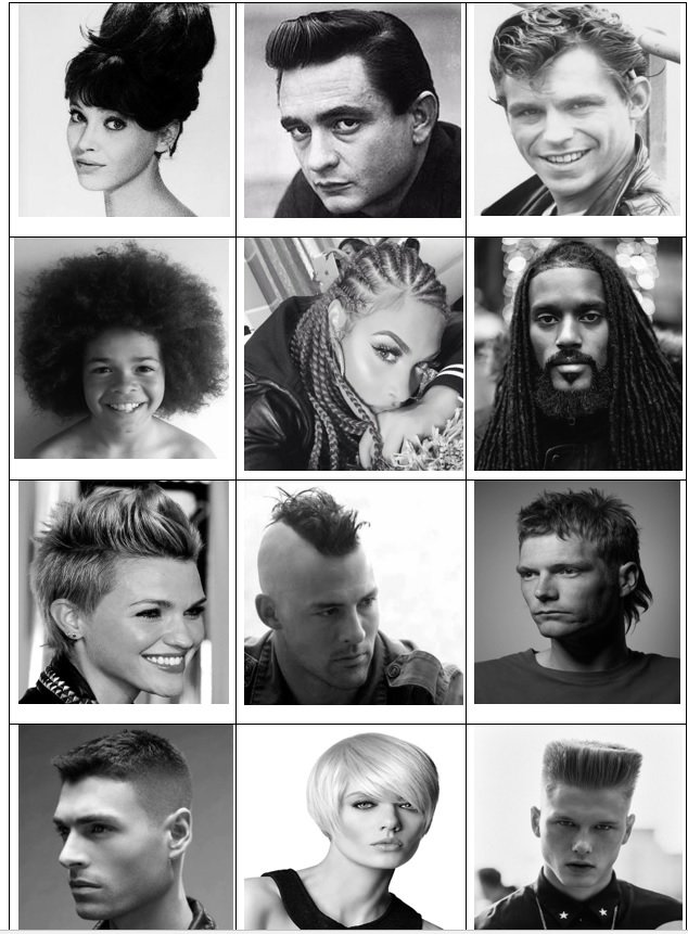 Click the Hairstyles Quiz