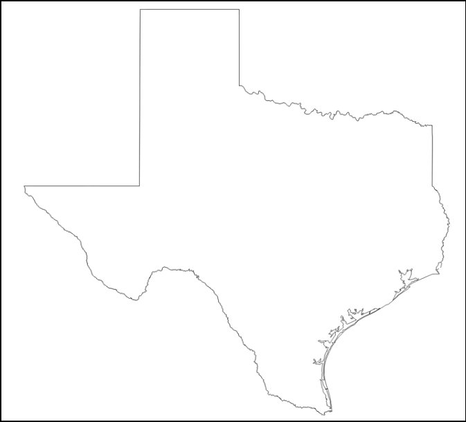 Map Of Texas Quiz.Hidden Neighbors Of Texas Quiz