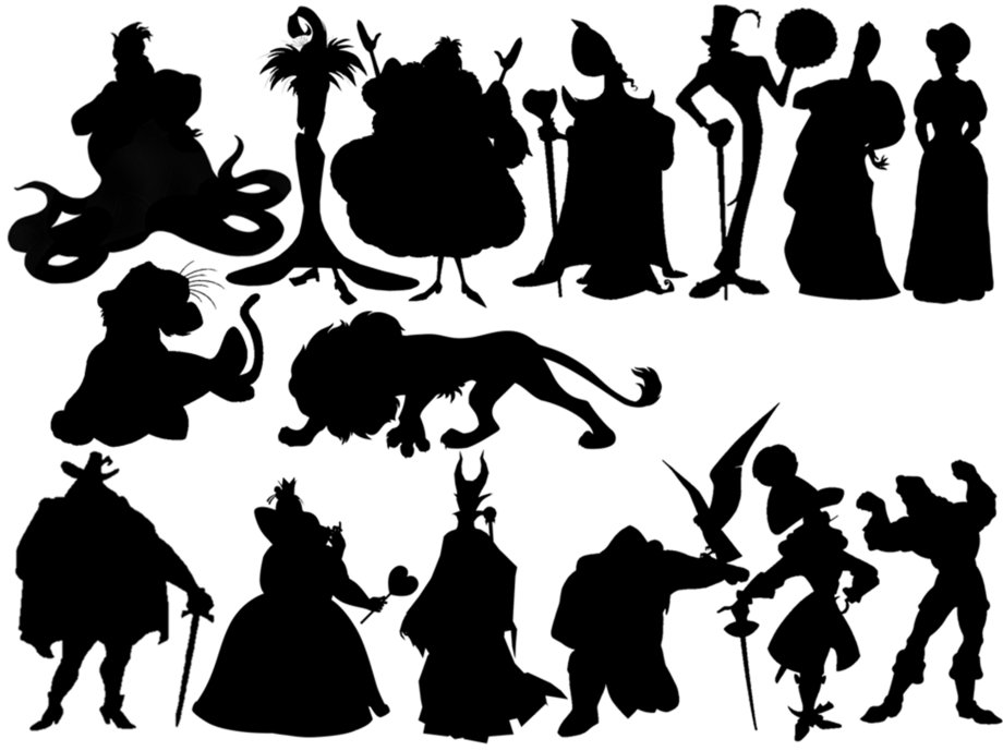 It's just an image of Unusual Disney Character Silhouettes