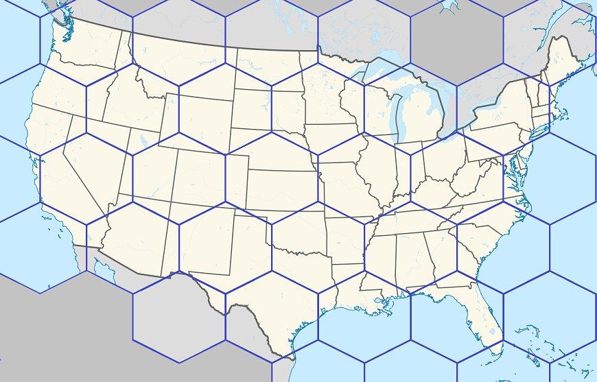 Fill the Hex Map: NBA Teams Quiz