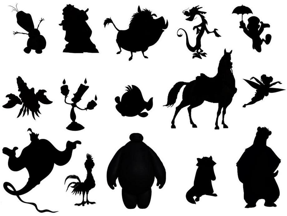 This is a picture of Ridiculous Disney Character Silhouettes