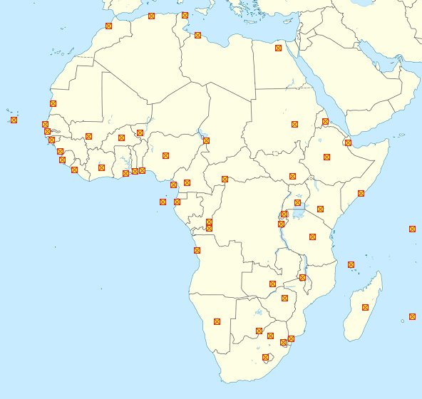 Minefield Map: African Capitals Quiz on map australia capitals, 50 states map capitals, map fashion capitals,