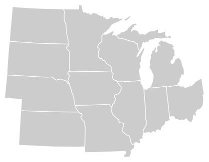 Midwestern States Map Identify the Midwestern States Quiz