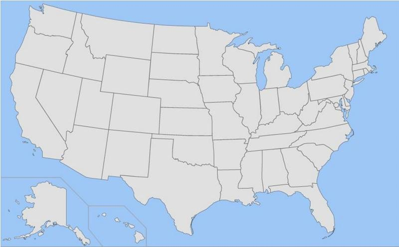 Risky Map Clicking: States with Short Names Quiz
