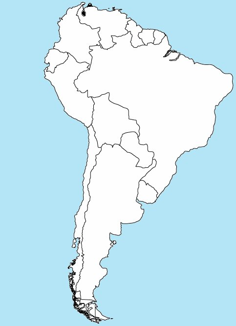 Find the Countries of South America by Capital Quiz