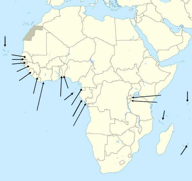 Map Of Africa With Countries And Capitals.Find The Countries Of Africa By Capital Quiz
