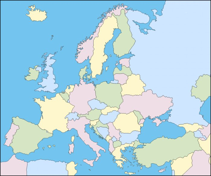 Map Of Spain Quiz.Find The Countries Of Europe In French Quiz