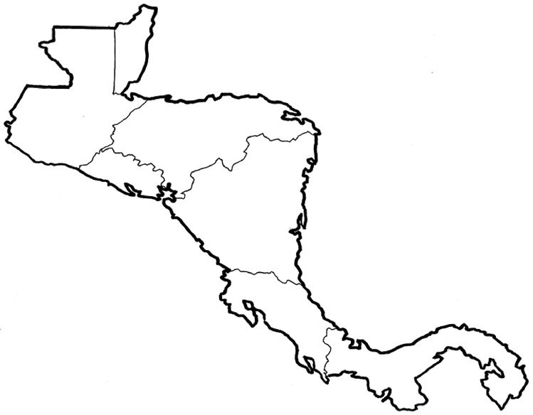 Find the Central American Countries (Minefield) Quiz