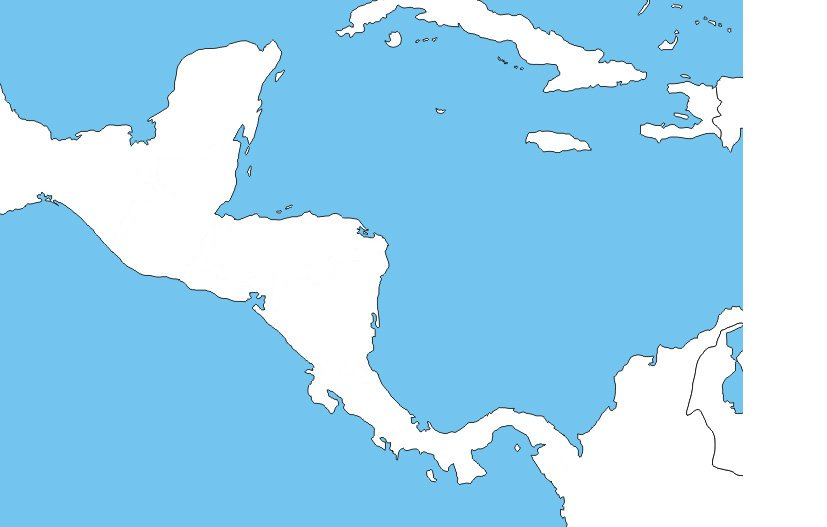 Let\'s Draw the Central American Borders Quiz