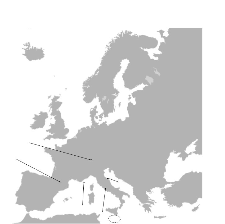 Find the Countries of Europe - No Outlines Minefield Quiz