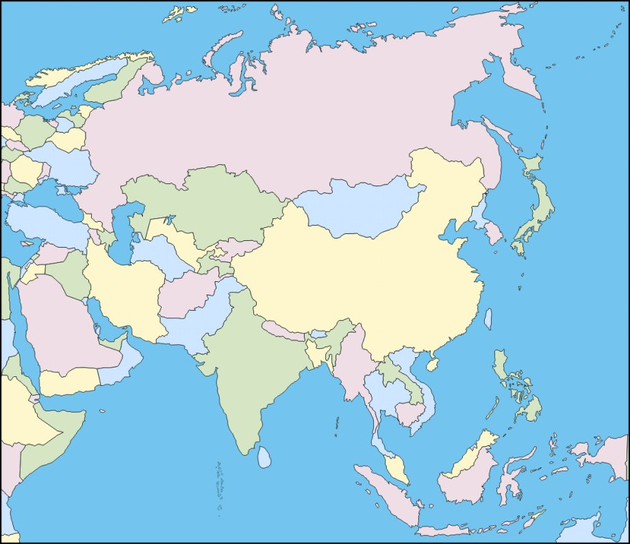 Map Of Asia Today.Find The Countries Of Asia In Their Official Language Quiz