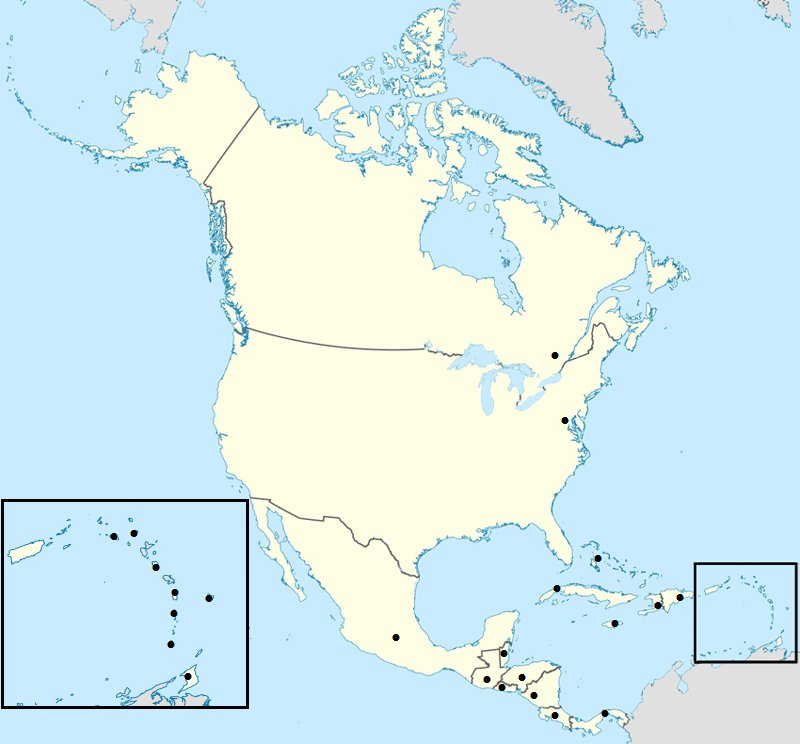Minefield Map: North American Capitals (Alphabetical) Quiz
