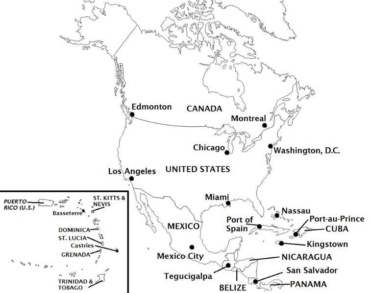 Fix the North America Map Quiz