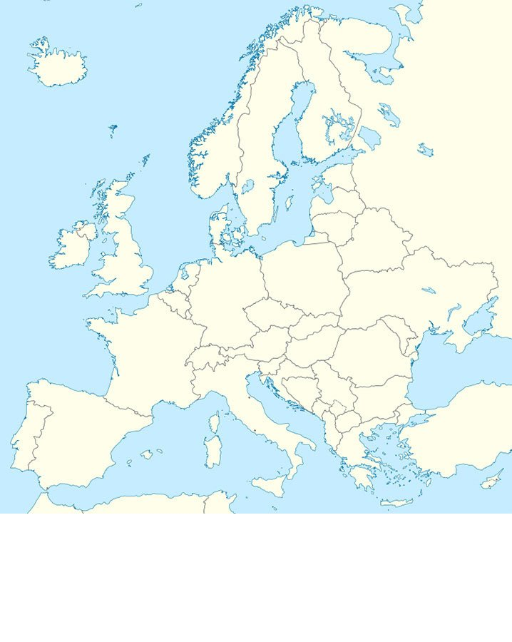 Europe Map By Largest Non Capital City Quiz