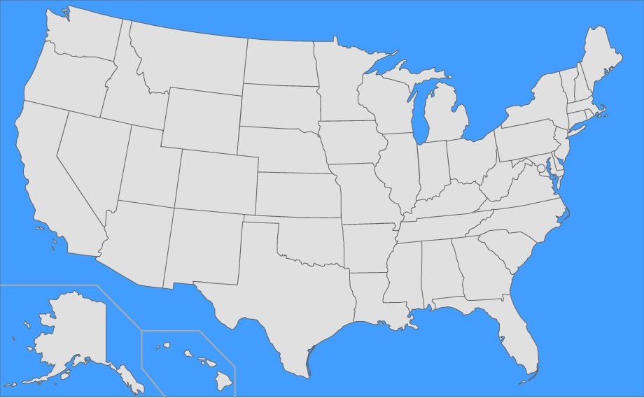 Us States By Largest Non Capital Cities Quiz - Us-capital-cities-map